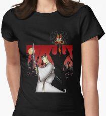 Samurai Jack Vs Aku Womens Fitted T-Shirt
