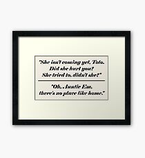Wizard Of Oz Opening Closing Framed Print