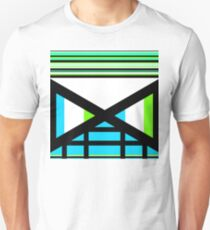 Dagaz Day Contemporary Norse Rune Art Blue White Black Green Unisex T-Shirt