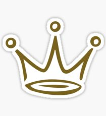 Crown gold Sticker