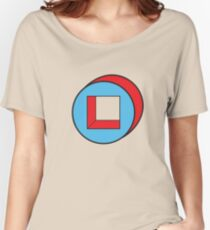 Blue Square / Red Circle Women's Relaxed Fit T-Shirt
