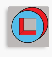 Blue Square / Red Circle Canvas Print