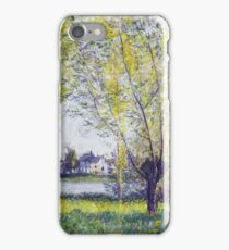 Claude Monet - The Willows, 1880 iPhone Case/Skin