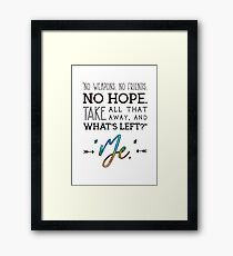 Buffy Quote  Framed Print