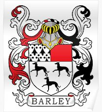 Barley Coat of Arms Poster