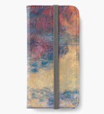 Claude Monet - The Water Lily Pond In The Evening 1916  iPhone Wallet/Case/Skin