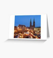 Altes Rathaus ,Dom St. Petri und Weihnachtsmarkt , Bremen Greeting Card