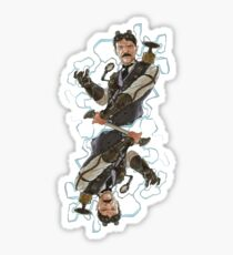 Steampunk Nikola Tesla Sticker