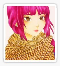 Cord knit scarf Sticker
