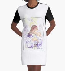 Angel of Protection Graphic T-Shirt Dress