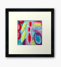 Psychedelic Fruitopia - Oil Pastel Painting Framed Print