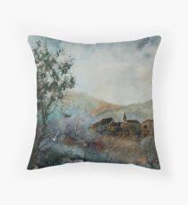 Mist in the Ardennes Belgium Throw Pillow