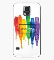 Funda/vinilo para Samsung Galaxy Acuarela LGBT Love gana tipografía Rainbow Paint tipográfico