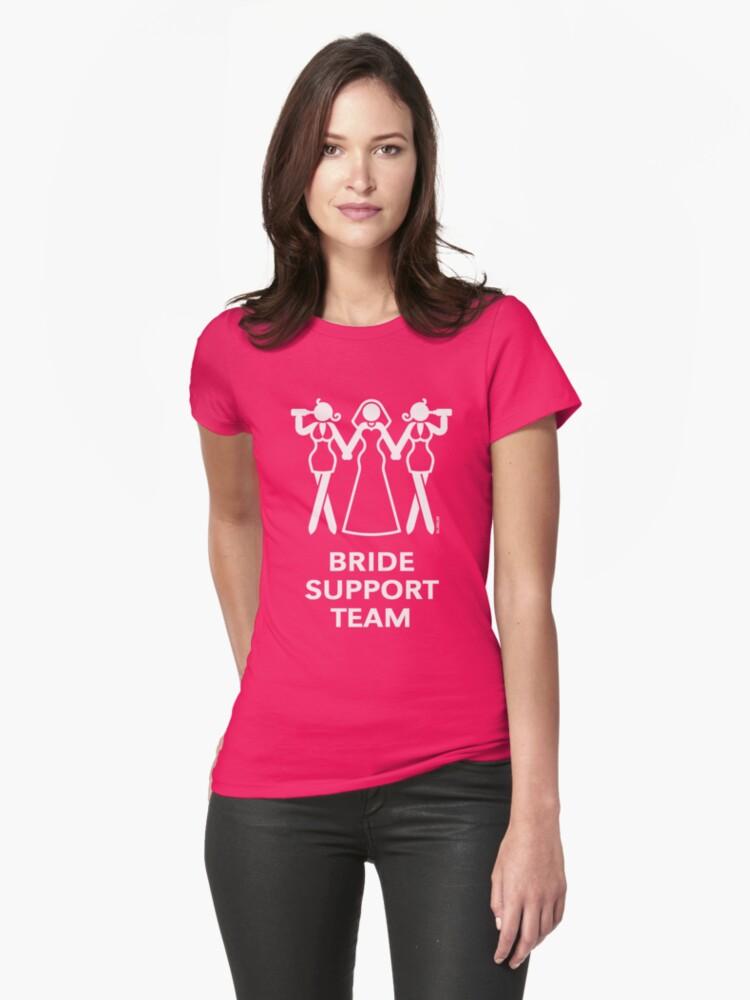 Camisetas entalladas para mujer «Equipo de apoyo de la novia ...