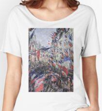 Claude Monet - The Rue Saint - Denis, Celebration Of June 30, 1878 Women's Relaxed Fit T-Shirt