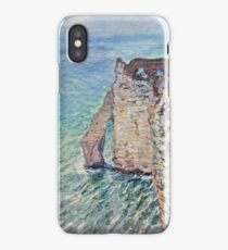 Claude Monet - The Rock Needle And The Porte Daval (1886) iPhone Case/Skin