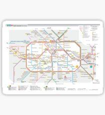 Berlin Map (U-Bahn) Sticker