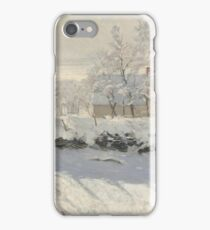 Claude Monet - The Magpie 1868 - 1869 iPhone Case/Skin