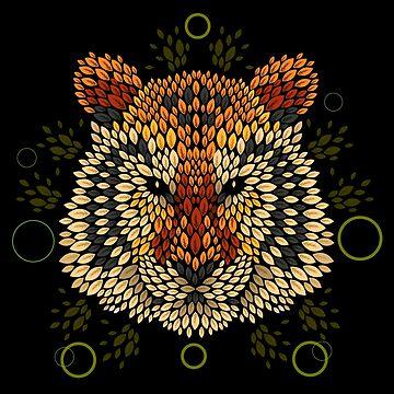 Cara de tigre de Letter-Q