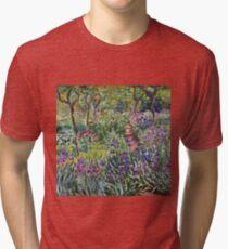 Claude Monet - The Artist S Garden In Giverny 1900 Tri-blend T-Shirt