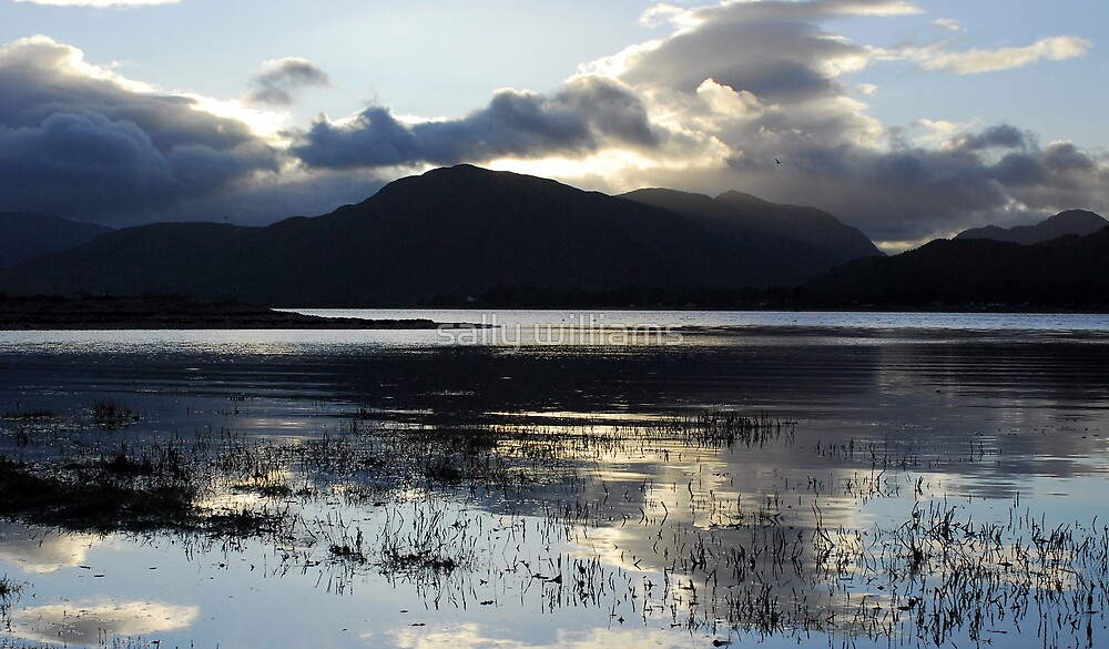Loch Linnhe at twilight by sally williams