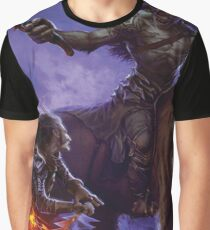 Elf Warrior vs Ogre Barbarian Graphic T-Shirt