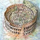The Colosseo City by Luca Massone  disegni