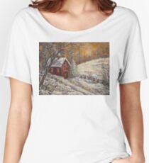 Snowy Sunset Women's Relaxed Fit T-Shirt
