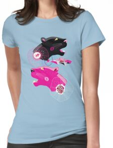 Fashionable pattern with panther heads Womens Fitted T-Shirt