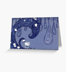 Snail Mail - Waves 1 Greeting Card