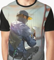 Low Poly Watch Dogs 2 Marcus (Marcus Polloway) Graphic T-Shirt