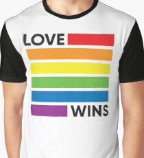 Rainbow Flag Love Wins - LGBT Pride Graphic T-Shirt