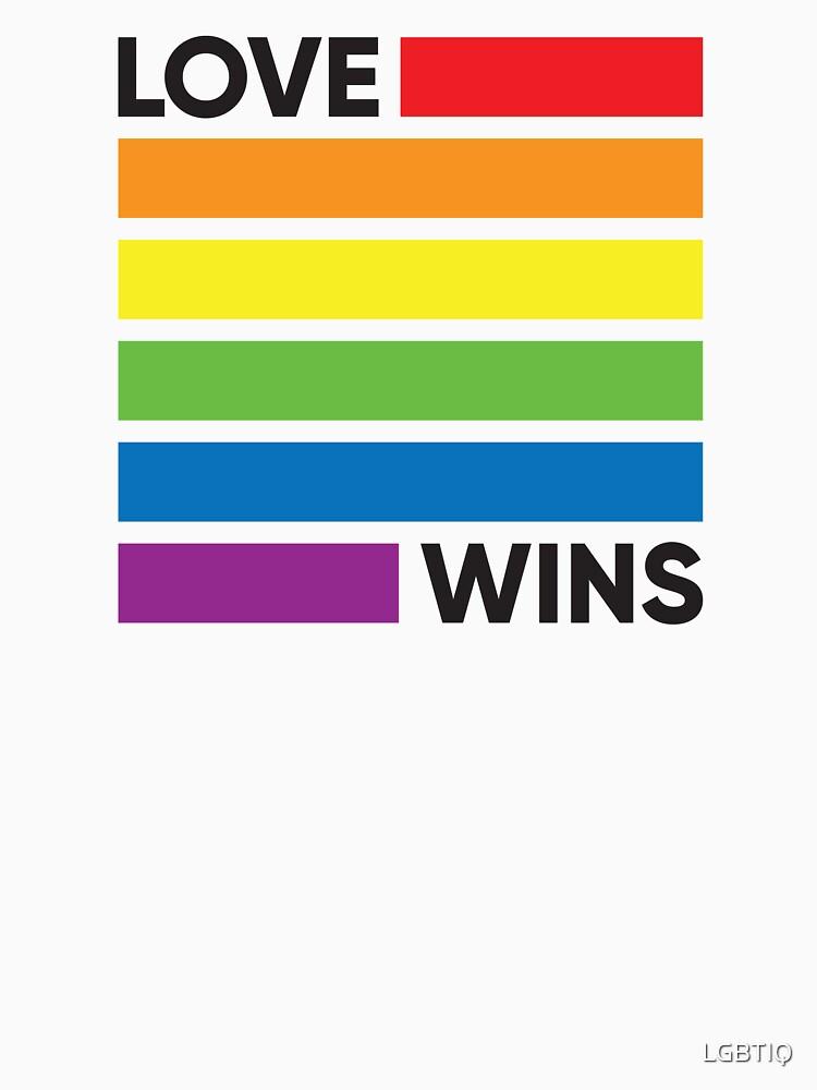 Regenbogen-Flaggen-Liebe gewinnt - LGBT-Stolz von LGBTIQ