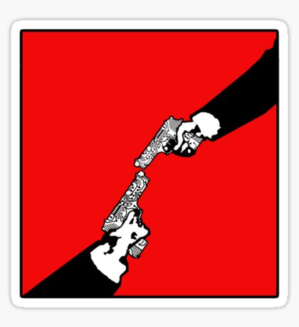 Hardwired for Violence(Stalemate) - Revised version for Michelangelo's Hand of God in the Sistine Chapel Sticker