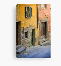 Facade in Cortona Tuscany Canvas Print