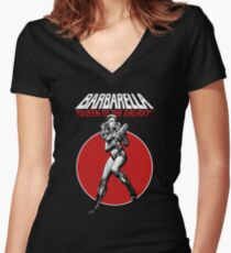 Barbarella - Queen of the Galaxy Women's Fitted V-Neck T-Shirt