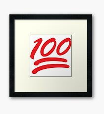 smiley 100 Framed Print