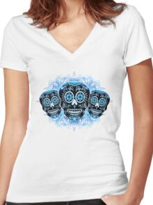 Three Amigos Women's Fitted V-Neck T-Shirt