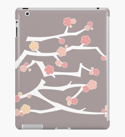 Chinese 'Ai' (Love) Calligraphy With Pink Cherry Blossoms On White Branches | Japanese Sakura Kanji iPad Case/Skin