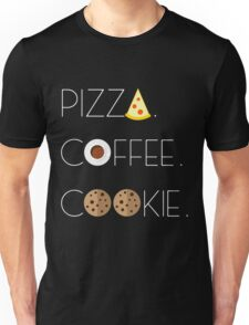 Holy Food Trinity: Pizza, Coffee, Cookie Unisex T-Shirt