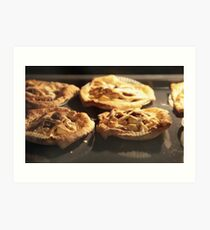 Puff Pastry Pies In oven baking tray Art Print