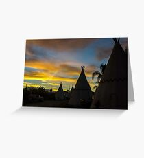 Sunrise at the Route 66 Motel Greeting Card