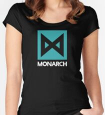 Monarch logo - inspired by Kong Women's Fitted Scoop T-Shirt