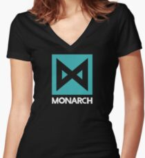 Monarch logo - inspired by Kong Women's Fitted V-Neck T-Shirt