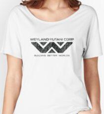 Weyland Yutani - Distressed Black Logo Women's Relaxed Fit T-Shirt