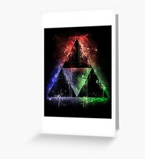 Colours Of The Force (vr.2) Greeting Card
