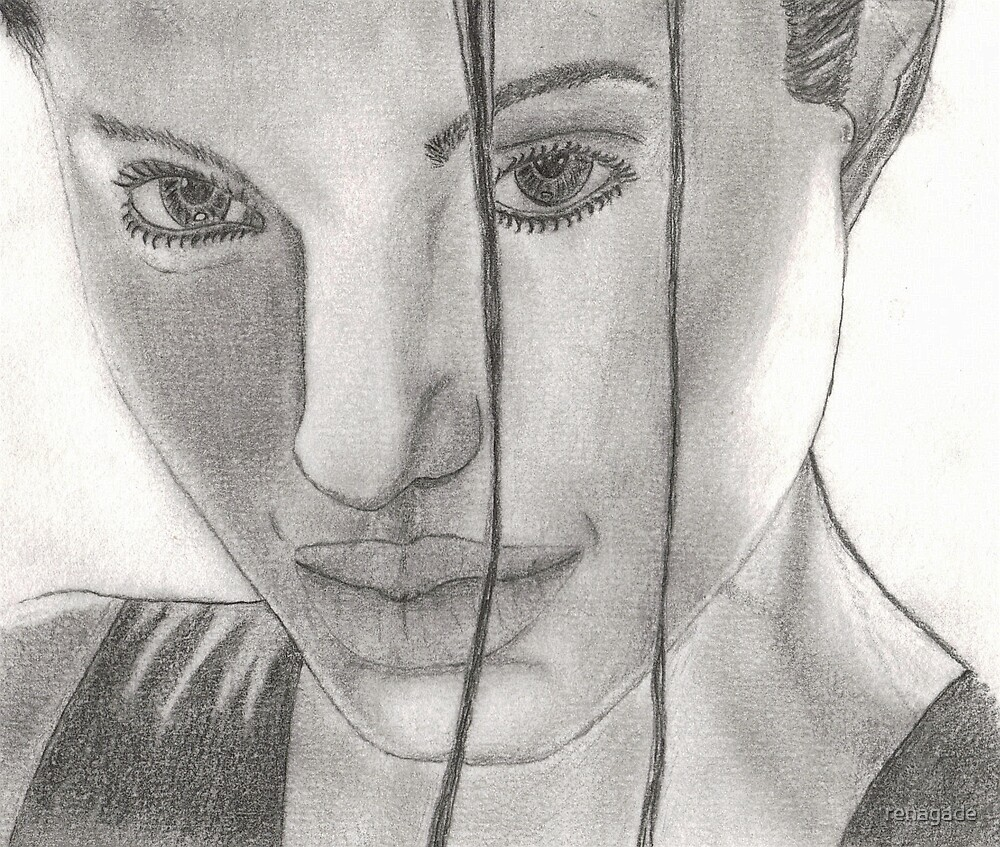 angelina jolie drawing  by renagade