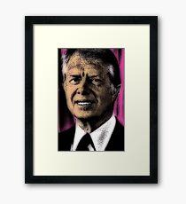 PRESIDENT JIMMY CARTER Framed Print