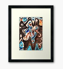 Reptile Queen Framed Print