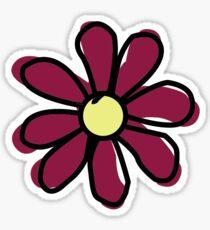 Maroon Flower Sticker